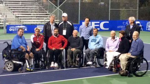 Chang Honored at International Tennis Federation Wheelchair Tournament